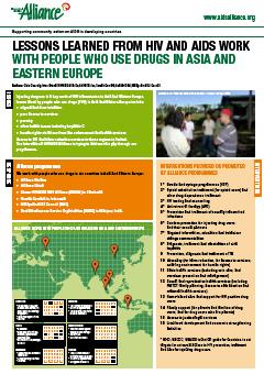 A Handout on Lessons Learned from HIV and AIDS Work with People Who Use Drugs in Asia and Eastern Europe