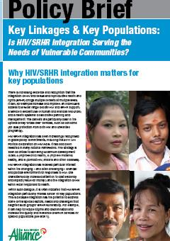 Key Linkages & Key Populations: Is HIV/SRHR Integration Serving the Needs of Vulnerable Communities?