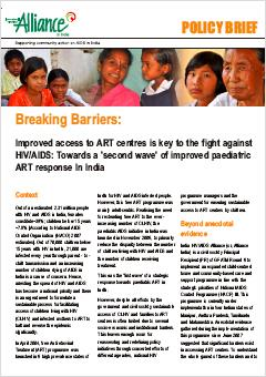 Policy Brief: Towards a 'Second Wave' of Improved Pediatric ART Response in India