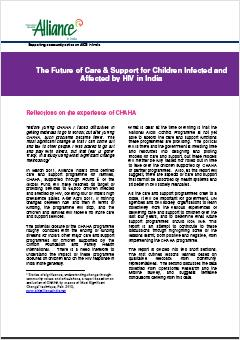The Future of Care and Support for Children Infected and Affected by HIV in India