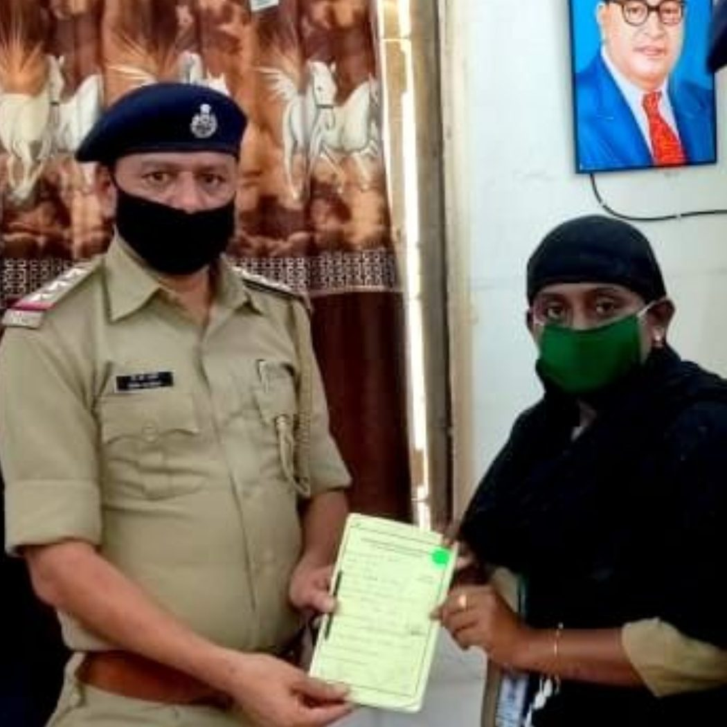 Police Personnel supporting the work of Vihaan team, Alliance India.