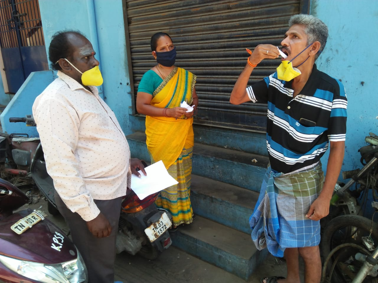 OST medicines being distributed to community members in Chennai.