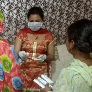 Women are provided with access to needles and syringes